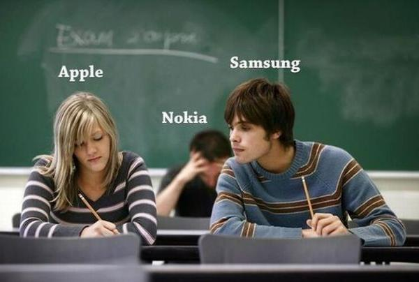 Apple, Nokia en Samsung op school