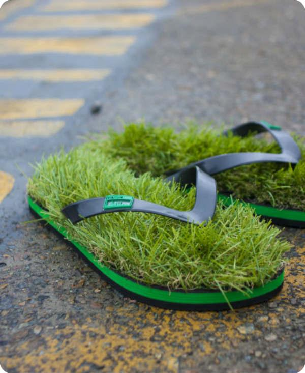 Gras slippers